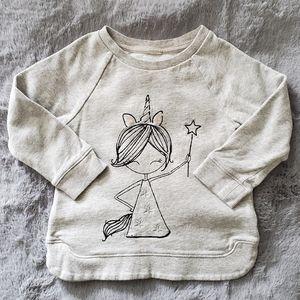 Girls Grey Cotton Sweater Sz 2T